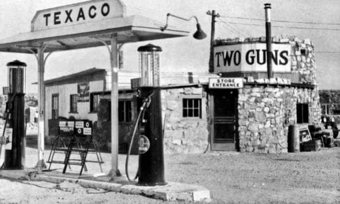 Old Gas Station in Two Guns AZ